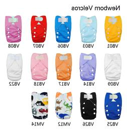 Newborn Baby Infant Pocket Cloth Diaper Nappy,Hook and Loop