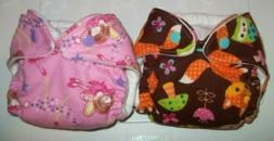 Newborn/XS fitted Cloth Diapers, lot of 2