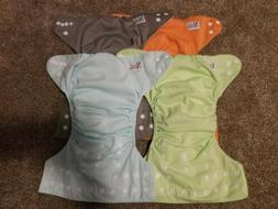Nora's Nursery Cloth Diapers W Insert, Lot Of 7, Washed Not