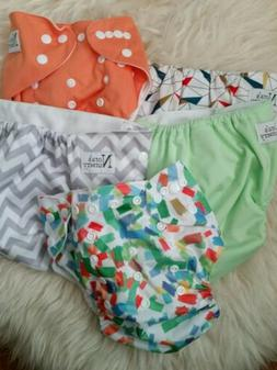 NORA'S NURSERY Cloth Pocket Diapers Lot of 5 Gender Neutral