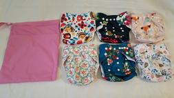 NWOT Lot of 6 Babygoal Cloth Diaper Covers and 1 bag