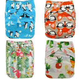 Ohbabyka Baby Cloth Diapers Reusable Nappies Character Unise