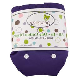 OsoCozy All in One Cloth Diaper, Deep Purple, Small