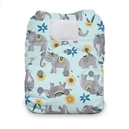 Thirsties One Size All in One Cloth Diaper, Hook & Loop Clos