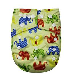 SEE DIAPERS ONE SIZE BABY CLOTH DIAPER WITH 2 INSERTS - MICR