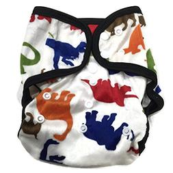 BB2 Baby One Size Printed Minky Minkee Snaps Cloth Diaper Co