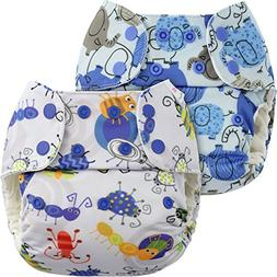Blueberry One Size Simplex Organic All in One Cloth Diapers,