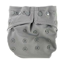 Bumkins One-Size Snap-In-One Cloth Diaper: Gray - All-in-Two