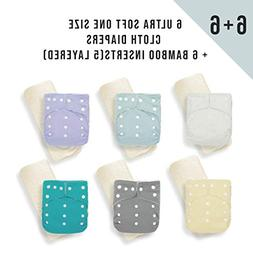 KaWaii Baby One Size Ultra Soft Cloth Diapers Pack of 6 diap