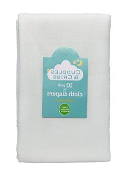 Cuddles & Cribs Organic Cotton Cloth Diapers/Burp Cloth - 10