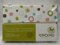 Osocozy Organic Cotton Prefold Cloth Diapers Better Fit Smal