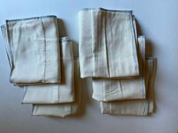 organic prefold and flat diapers six pack