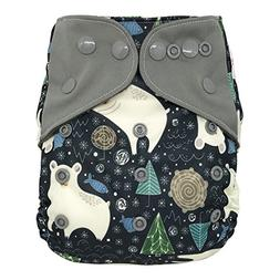 Overnight AIO Cloth Diaper Hybrid – with Charcoal Bamboo I