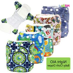 Overnight Cloth Diapers All In One Cloth Diaper Reusable AIO