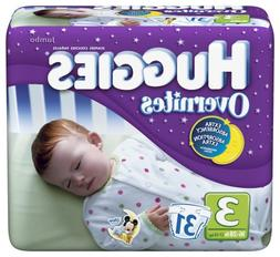 Huggies Overnites Jumbo Pack Diapers Size 3 16-28 lbs