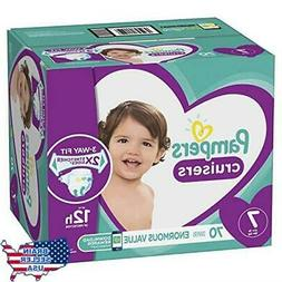 Pampers Cruisers Diapers, Size 7, 70 Count, New, Free Ship