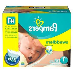 Pampers Swaddlers Diapers-Size 1 Economy Pack 216 Count, Ext