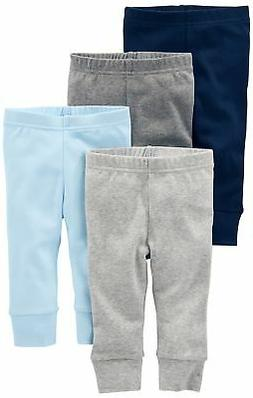 Simple Joys by Carter's Baby Boys 4-Pack Pant, Blue/Grey, 6-
