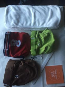 gDiapers Pants Small 3, 4 Inserts M/L New