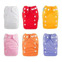 ALVABABY Pocket Newborn Cloth Diapers for Less Than 12pounds