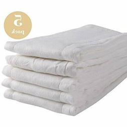 Prefold Cloth Diapers Covers 5 Pack - Unbleached Premium Cot
