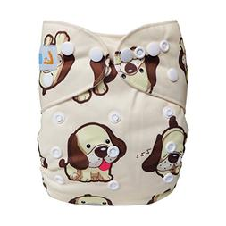 LBB One Size Reusable Pocket Cloth Diapers for Baby Girls an