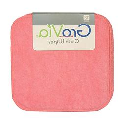 GroVia Reusable Cloth Diapering Wipes, 12 Count, Rose