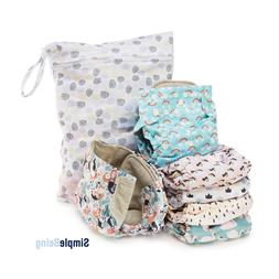 Simple Being Reusable Cloth Diapers, Double Gusset, One Size