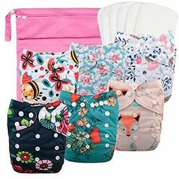 Reusable Cloth Diapers For Girls, Adjustable Washable Nappy