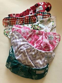 Babygoal Reusable Cloth Diapers Girls Adjustable 6 Diaper Co