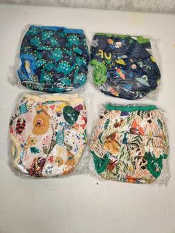 Lollipopy Reusable Cloth Diapers Lot of 4 *New in Bag*