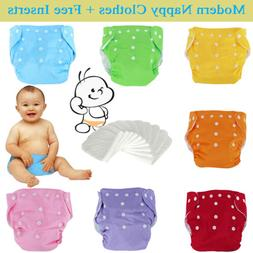 Reusable Modern Baby Cloth Nappies Diapers Adjustable Bulk w