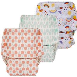 GroVia Reusable All in One Snap Baby Cloth Diaper  - 3 Pack