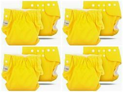 AZBABY Reusable Premium Cloth Diapers in Yellow 4 PACK