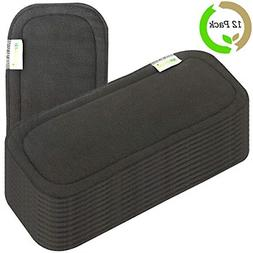 reusable soft 5 layers 12 pack bamboo