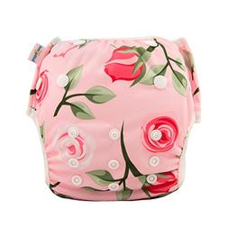 babygoal Reusable Swim Diaper for Girls, One Size Adjustable