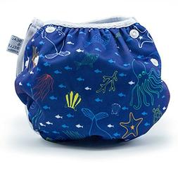Nageuret Reusable Swim Diaper, Adjustable & Stylish Fits Dia