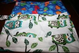Reusable Wet Dry Bags for Cloth Diapers - 2 Zippered Pockets