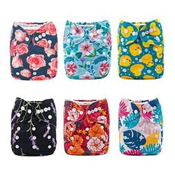 ALVABABY New Design Reuseable Washable Pocket Cloth Diaper 6
