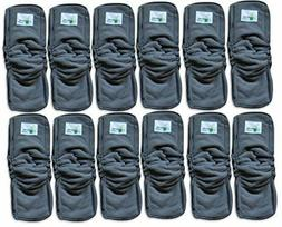 Naturally Natures Cloth Diaper Inserts GUSSET Charcoal Bambo