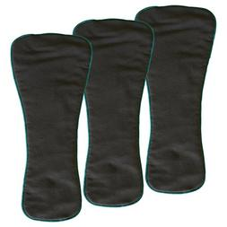 EcoAble 3-Pack Snap-in Charcoal Bamboo Inserts for Incontine