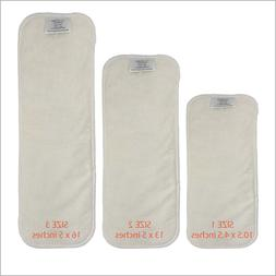 Snap-in Bamboo Booster Inserts Soaker Pads for Cloth Diapers