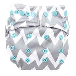 Bumkins Snap in One Diaper - Gray Chevron