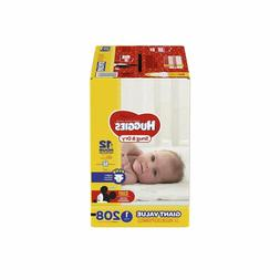 HUGGIES Snug & Dry Diapers, Size 1, 208 Count, GIANT PACK