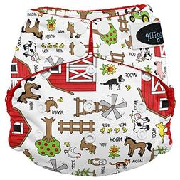 Imagine Baby Products Stay Dry All-In-One Snap Diaper, Barny