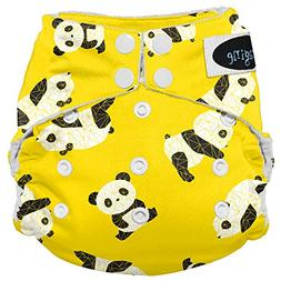 Imagine Baby Products Stay Dry All-in-One Snap Diaper, Panda