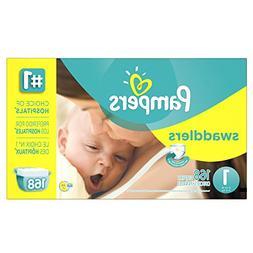 Size 1 Pampers Swaddlers Newborn Diapers 168 Count Extra Abs