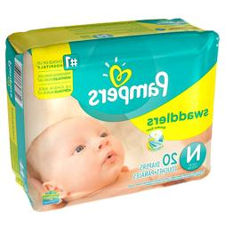 Pampers Swaddlers Diapers, Size Preemie Newborn 1 2 3 4 5 6