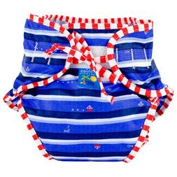 Kushies Swim Diaper, Blue Ahoy Print, X-Large
