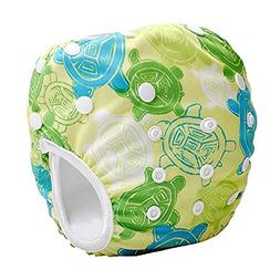 Reusable Swim Diaper - One Size Adjustable, Absorbent, Trave